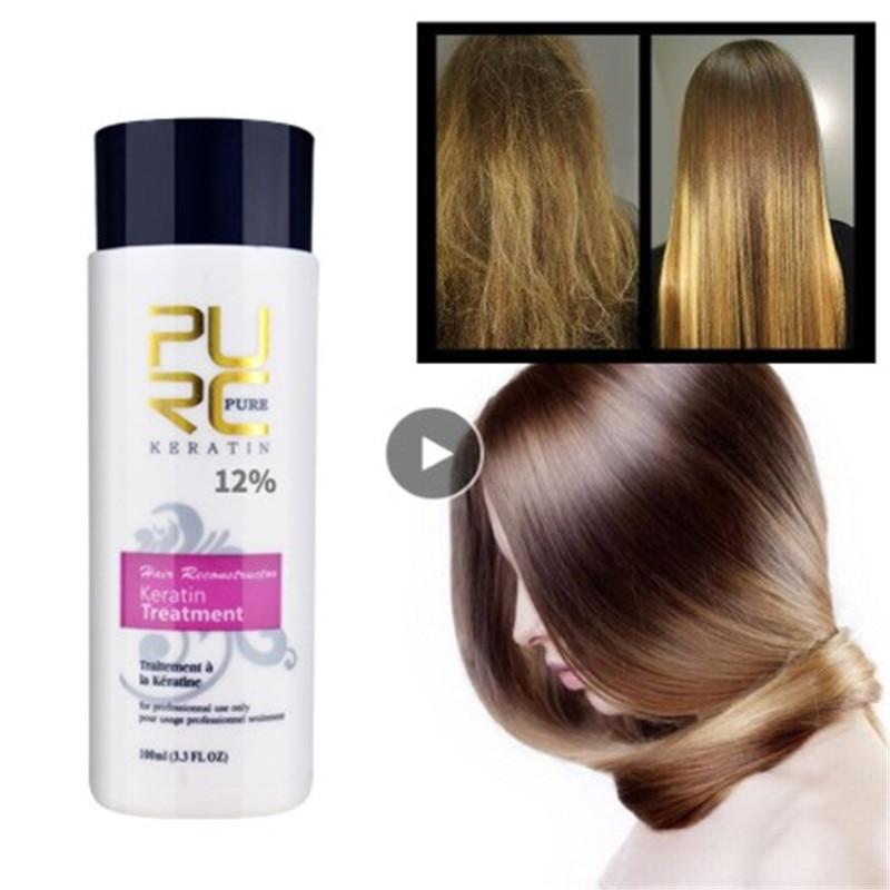 100ML Keratin Shampoo Straightening Hair Repair Straighten Damage Products Keratin Treatment Purifying Cleansing Shampoo Shiny