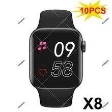 Reloj inteligente deportivo X8 para hombre y mujer, pulsera con Bluetooth, Monitor de ritmo cardíaco, para IOS, Pk X7, 10 Uds.