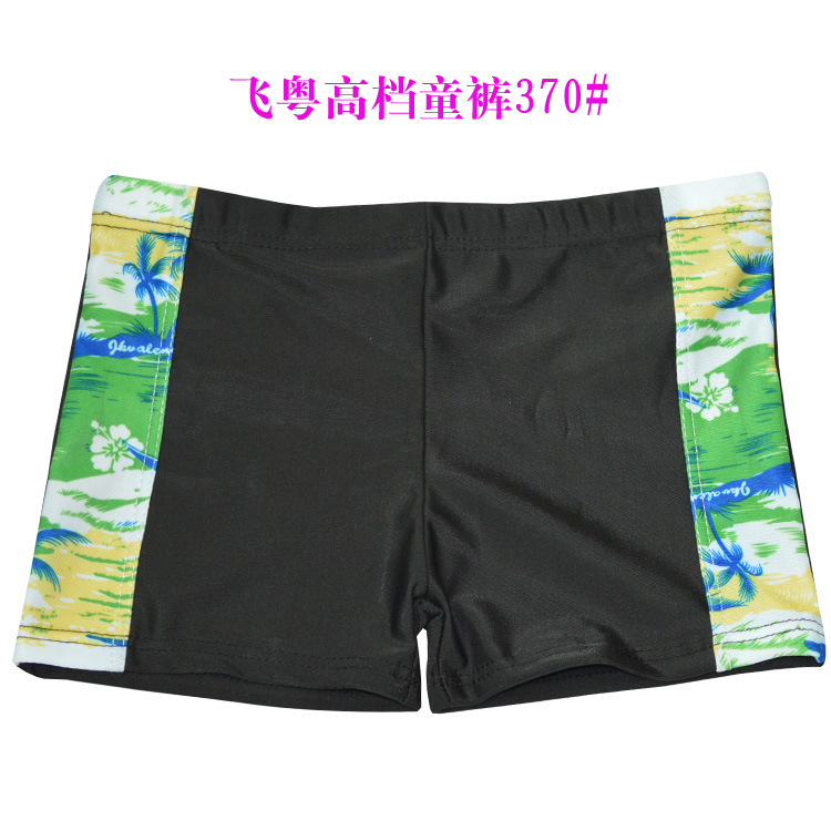 Large Amount Big Kid Swimming Trunks Printed Mixed Figure Cha Bian Crawler Swimming Trunks (Suitable 5-10-Year-Old) 370