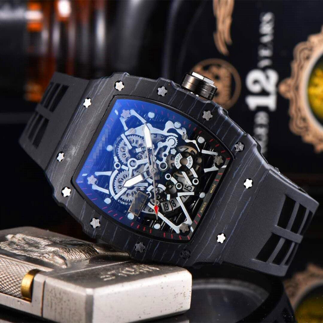 Richard Luxury Quartz Watches New Top Brand Mille Mens Automatic Watch Men's Designer Wristwacth Water Resistant Reloj Hombre