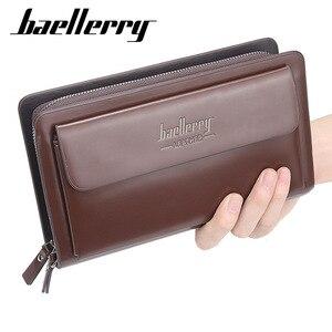 Image 2 - Высококачественный мужской клатч, бумажники большой вместимости, деловые мужские бумажники, Карманный Кошелек для мобильного телефона, кошелек для мужчин 2020