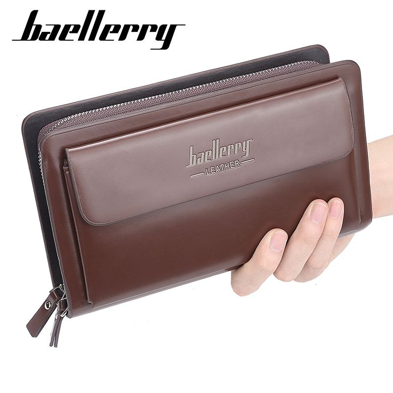 Image 2 - 2020 High Quality Men Clutch Wallets Large Capacity Business Men Wallets Cell Phone Pocket Passcard Pocket Wallet For MenWallets   -