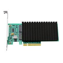 ANM22PE08 NVMe controlador PCIe a M.2 Dualport con disipador de cabeza (no con ssd)