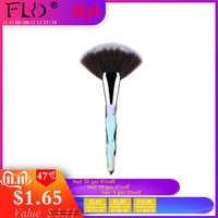 FLD Crystal Makeup Brushes Set Powder Foundation Fan Brush Eye Shadow Eyebrow Professional Blush Makeup Brush Tools