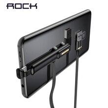 רוק סוג C USB נייד טלפון משחק כבל עבור סמסונג S10 S8 S9 Huawei P20 פרו P30 2A מהיר טעינת סנכרון USB C יניקה כוסות חוט