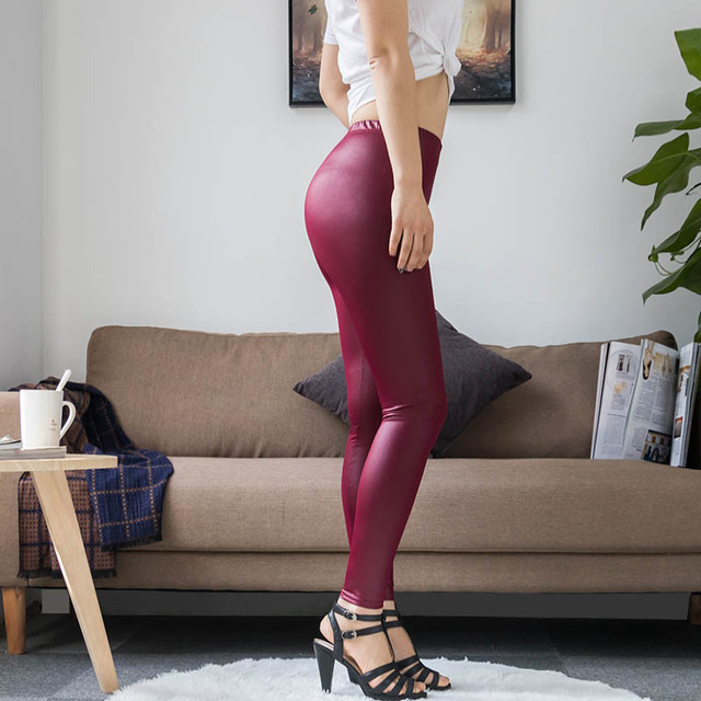 High Waist Faux Leather Leggings 4