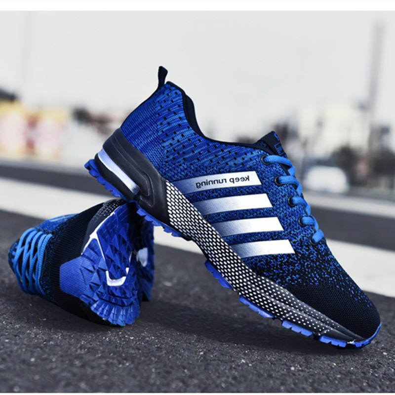 Uberu Tennis Men's Sneakers Comfortable Mesh Men Sport Shoes Outdoor Non-slip Wear-resistant Casual Running Shoes Big Size 48