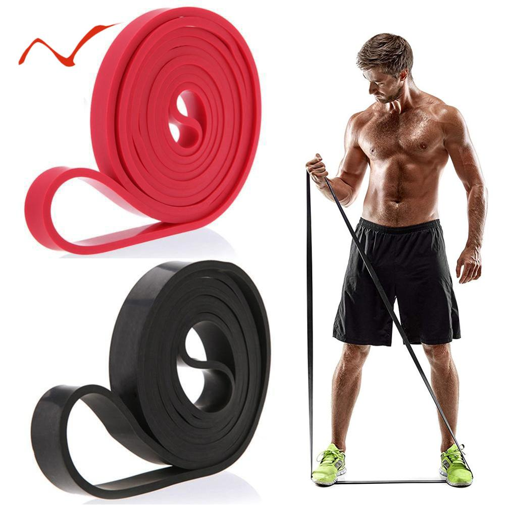 208cm Stretch Resistance Band Oefening Expander Elastische Band Pull Up Assist Bands voor Fitness Training Pilates Thuis Workout
