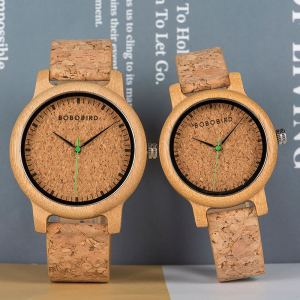 Image 4 - Couple Watch  こうのたろうTaro Kono Minister BOBOBIRD Wood Watch Men Wristwatch Customized Gift Lovers Anniversary Gifts in Wooden Box