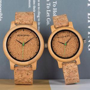Image 4 - Zegarek dla pary こうのたろうTaro Kono Minister BOBOBIRD drewniany zegarek mężczyźni zegarki niestandardowy prezent miłośników prezenty na rocznicę w drewniane pudełko
