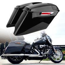 """Мотоцикл 4 """"cvo Расширенный жесткий saddlebags для harley"""