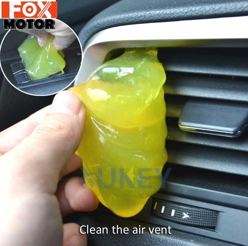 Car Keyboard Cleaner Glue Gel Interior Panel Air Vent Outlet Dashboard Dust Magic Cleaning Tool Laptop Sponge Mud Remover