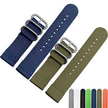 Nylon Watch Band Straps 18mm 20mm 22mm 24mm Men Women Fashion 6 Colors Canvas Watchbands With Silver Black Pin Buckle