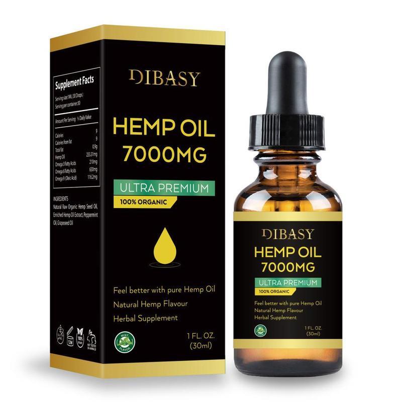 Essential Oils 7000mg Cbd Oil Organic Hemp Seed Extract Hemp Seed Oil Bio-active Drop For Pain Relief Reduce Sleep Anxiety