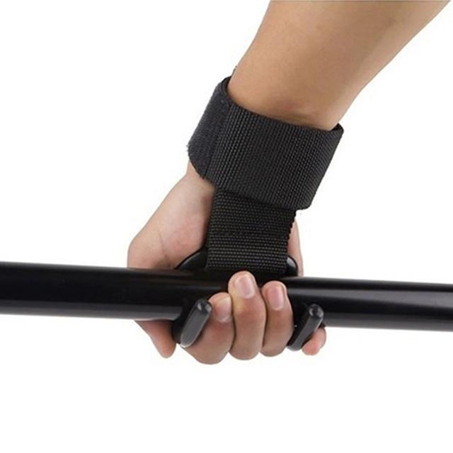 2 Pcs Weight Lifting Hook Hand Bar Wrist Straps Glove Weightlifting Strength Training Gym Fitness Hook Support Lift Grip Belt 4