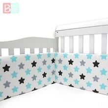 Diseño de estrellas nórdico para guardería de bebé, Protector grueso de cuna de una pieza, cojín Protector de cuna, almohadas para decoración de habitación de recién nacidos