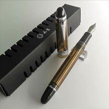 HERO wing sung 699 Transluscent Brown With Silver Clip Vacuum fountain pen M Nib