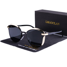2021 lmaoclan feminino óculos de sol polarizados moda de luxo gato olho senhoras designer marca do vintage feminino óculos de sol oculos gafas