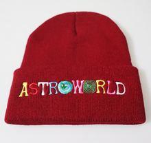 Шапка унисекс новинка 2020 трикотажная шапка astroworld с вышивкой