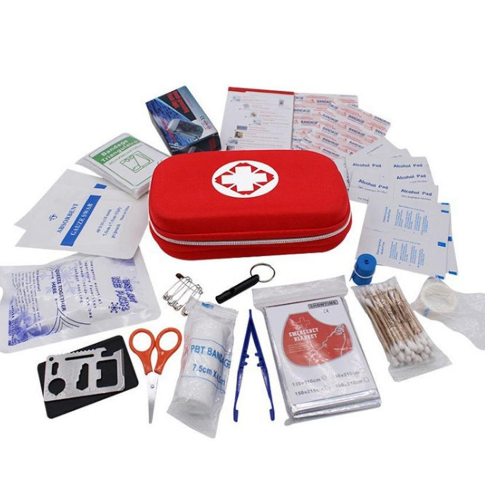 Portable Travel Household Survival Kit Multi-Layer First Aid Kit Outdoor Car Bag Emergency Kit