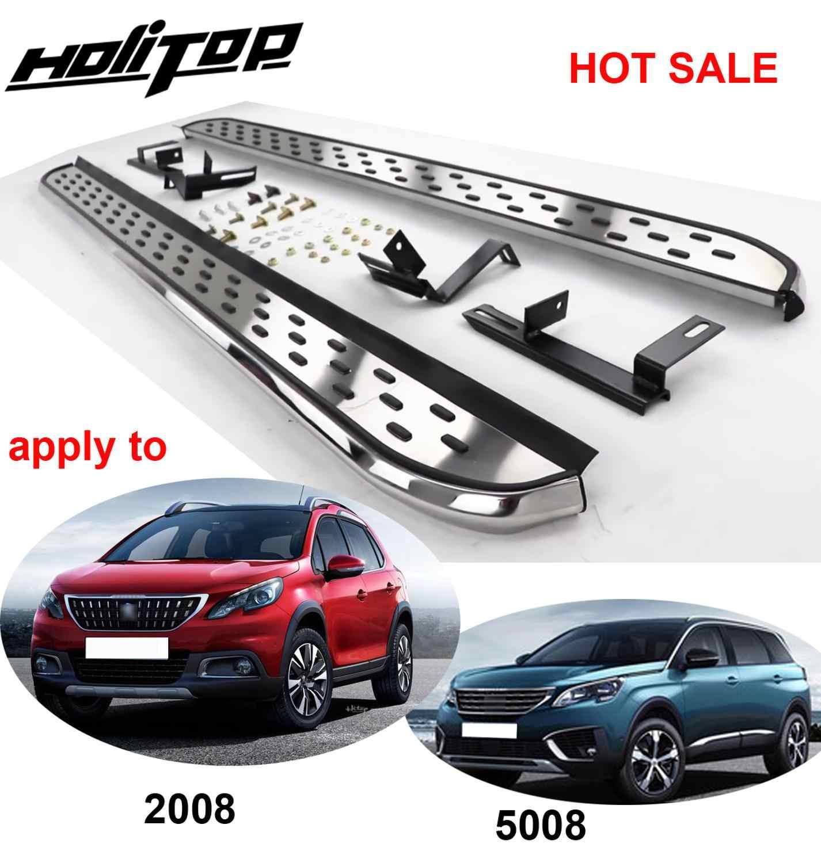 Treeplank Side Step Side Bar Voor Peugeot 2008 & 5008, Meest Populaire Stijl In China, geleverd Door ISO9001 Fabriek, Dikker Aluminium