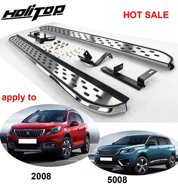 running board side step side bar for Peugeot 2008 &5008,most popular style in China,supplied by ISO9001 factory,thicken aluminum