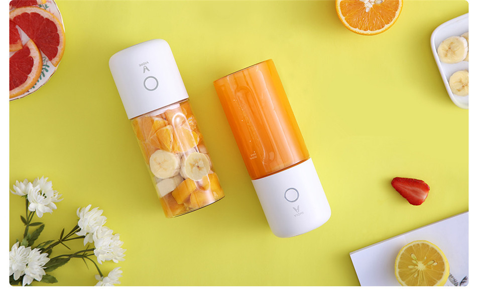 Xiaomi VIOMI 350ml Electric Juicer Portable Electric Juicer Cup 2000mAh Battery Type-C Rechargeable Blender Jucing Machine
