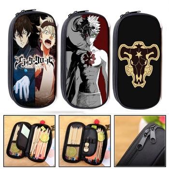 Black Clover Anime Manga Cosmetic Cases pencil bag boys school case pencil box stationary bags