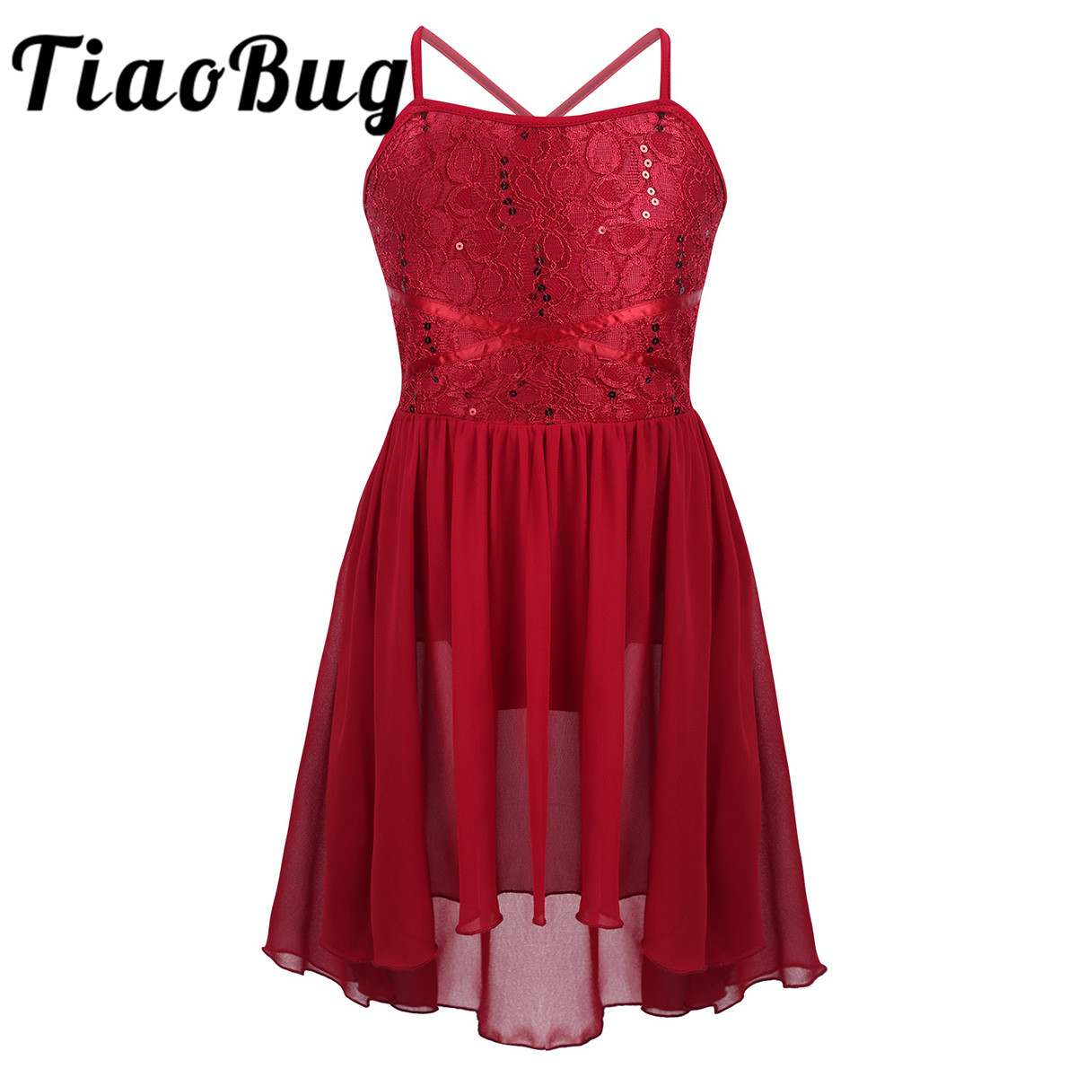 IN STOCK Stunning Red Sequin Lyrical Modern Dress All Sizes