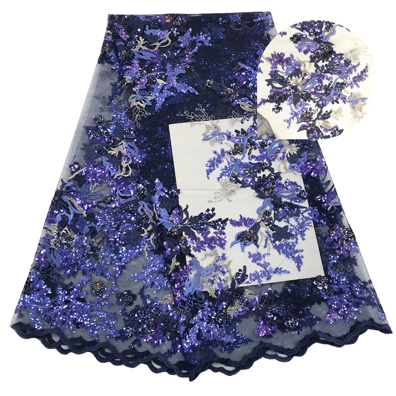 2020 Fashion Latest Arrival African Lace Fabric With Sequins Wonderful Embroidered Swiss Voile French Lace Fabric For Dress