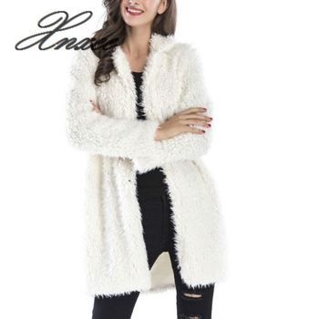Xnxee 2020 New Faux Fur Coat Women Spring Overcoat Casual Fox Jacket Long Sleeve Female Outerwear