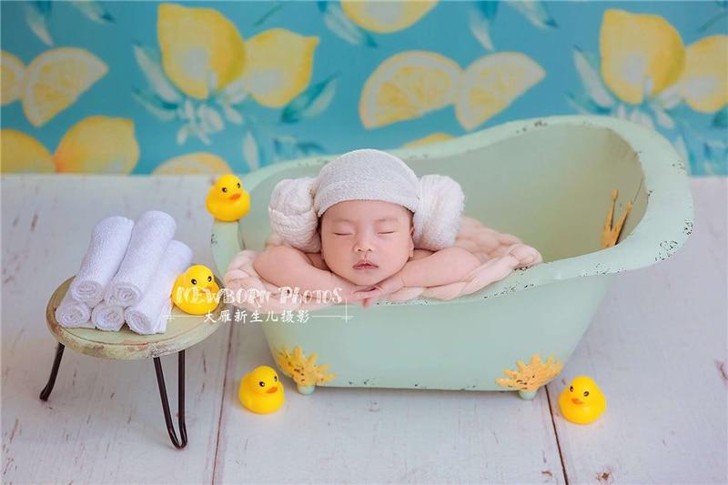 dvotinst bebe fotografia aderecos bonito mini banheira retro posando verde acessorios de fotografia estudio tiro foto