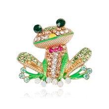 Danrun 2019 new fashion cartoon drop frog brooch Europe and the United States Joker enamel spot