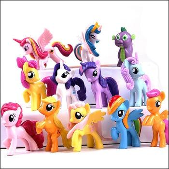12pcs/set My Little Pony Mini Pony Action Figures Unicorn Friendship magic Kids Toys 5-7cm PVC for Children Christmas Gifts 01