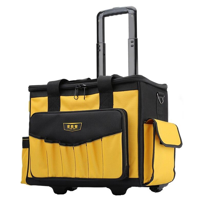 Trolley Wheel Toolbox  Multifunction Roller Type Tool Trolley Case Large Capacity Thickening Wear-resistant Trolley Bag