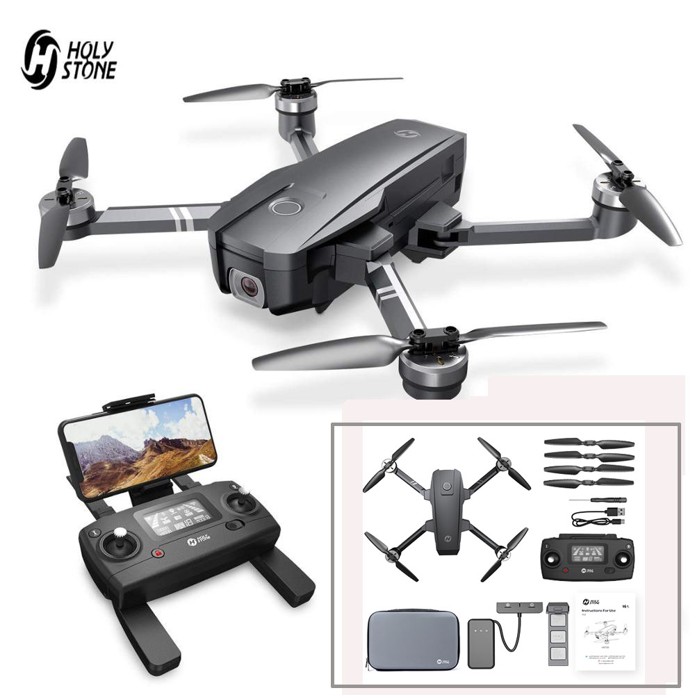 Holy Stone HS720 Foldable GPS Drone With 5G 4K FHD FOV 110° Wi Fi Camera RC Quadcopter 26 Minutes Flight Time With Carrying BagRC Helicopters   -