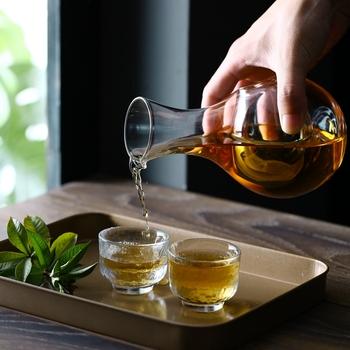 Kreatywne japońskie szkło zestaw do wina gniazdo dla chomika Sake zestaw karafka kryształowe wino cieplej szkło jasne naczynie do wina butelka Whisky Barware tanie i dobre opinie Ekologiczne Zaopatrzony DX245 Zestawy barowe Eco-Friendly Stocked Transparent Bar Sets Bar Widding Gift Party 440ML 290ML