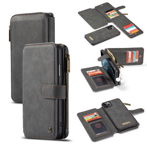 Image 1 - CaseMe Detachable Flip Leather Cases For iPhone 12 mini 11 Pro Business Wallet Phone Cover For iPhone 12 11Pro Max SE 2020