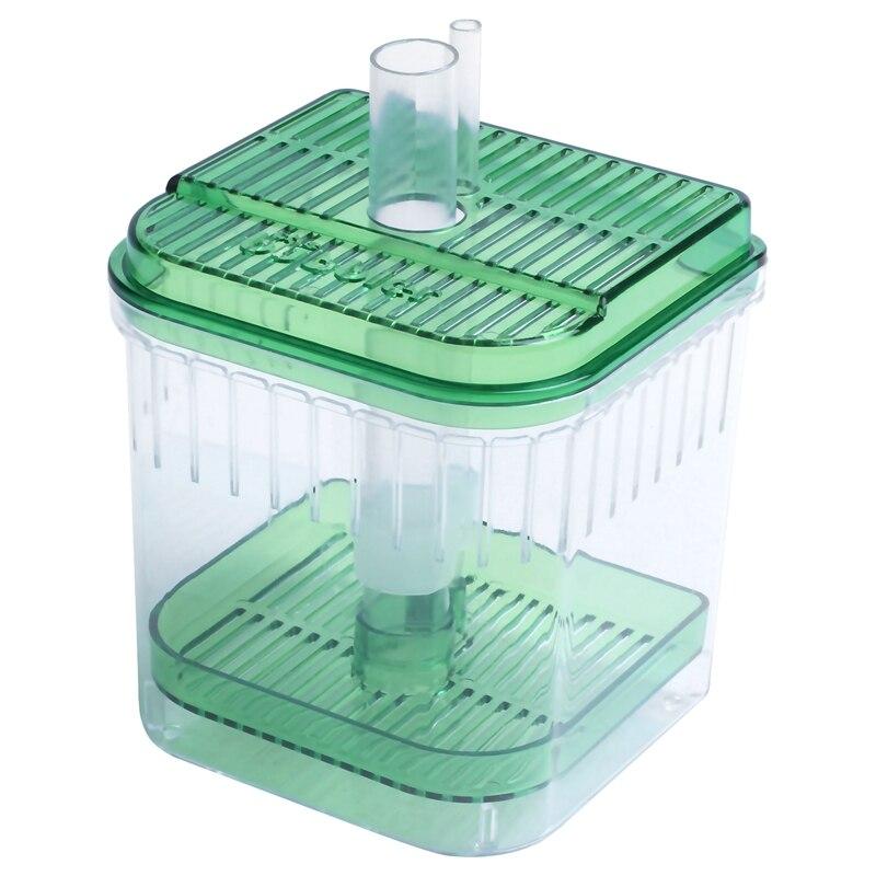 Plastic Square Fish Tank Aquarium Filter Bottom Box Transparent Green