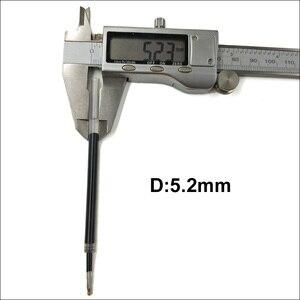 Image 4 - Hurtownie niebieski/czarny długopis żelowy atrament 0.5mm do pióro do podpisywania szkolne biuro Gal pręty gładkie pisanie trwałe podpisanie napełniania długość 111mm