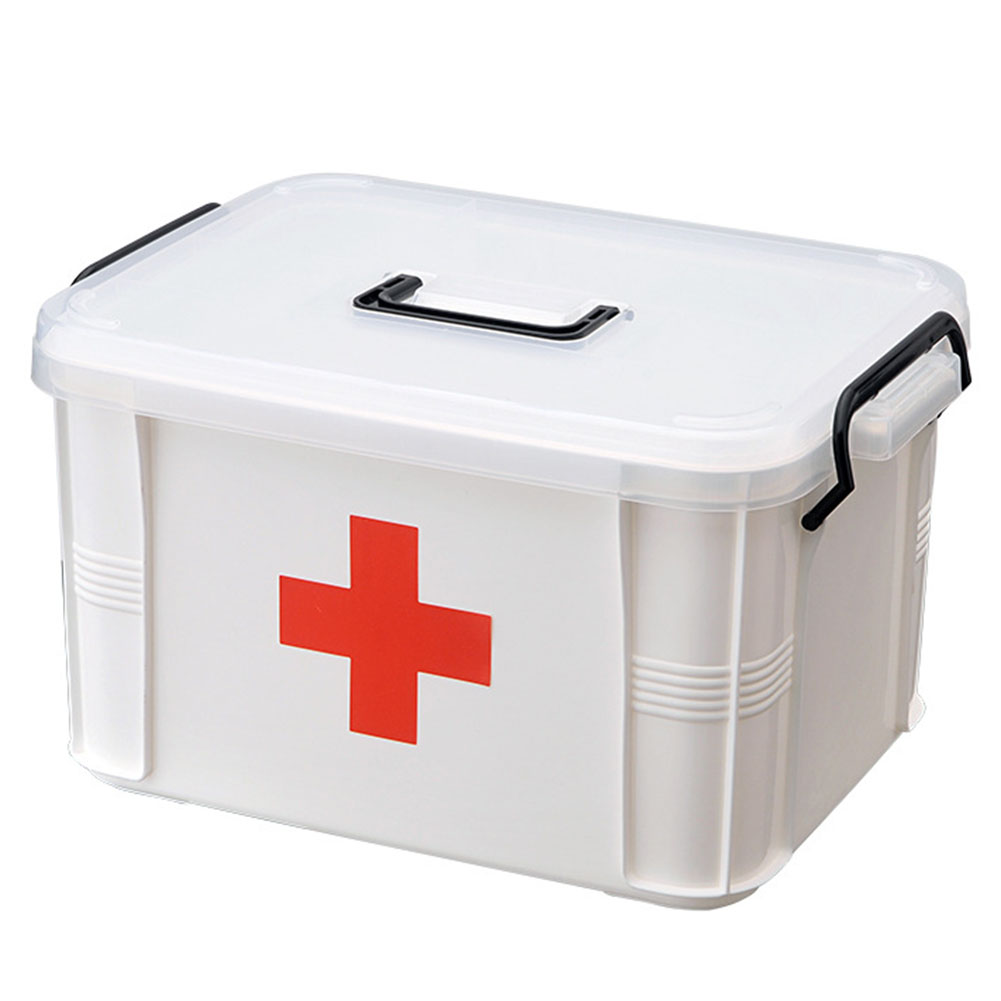 Trumpet  First Aid  Kit Easy To Move Portable Strong And Durable Emergency Box Plastic Medicine Storage Box Travel  Medicine Box