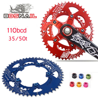 110 BCD Chainring Road Bike 50T/35T Double Oval Bicycle Chain Ring 9 11Speed Ultralight Ellipse Climbing Power Chainwheel Plate