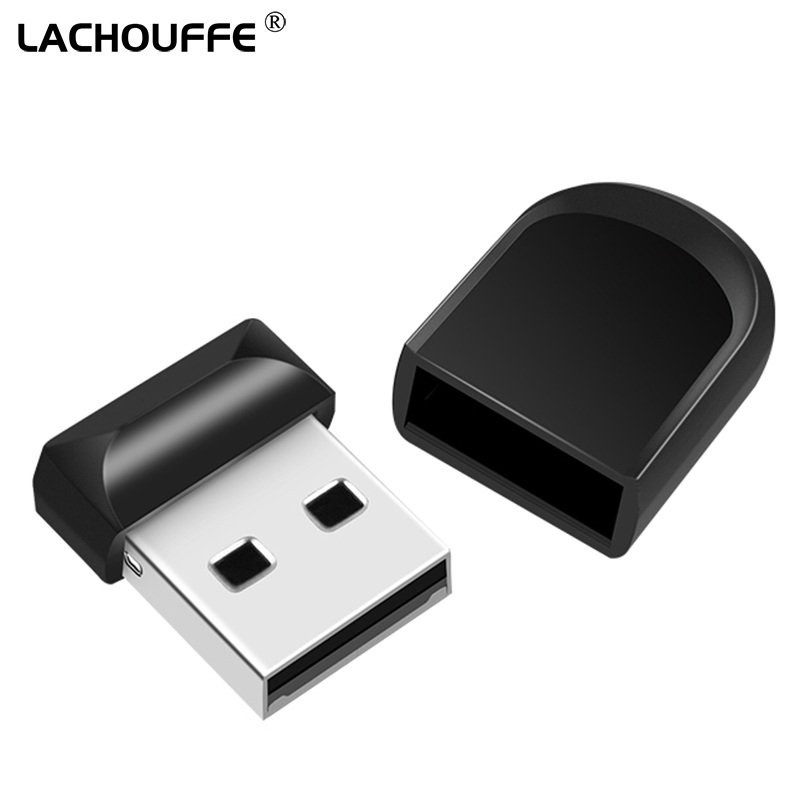 Black Mini USB Flash Drive 128GB 64GB 32GB 16GB 8GB Metal Pen Drive Pendrive 128 64 32 16 8 GB USB Flash Memory Cle USB Stick