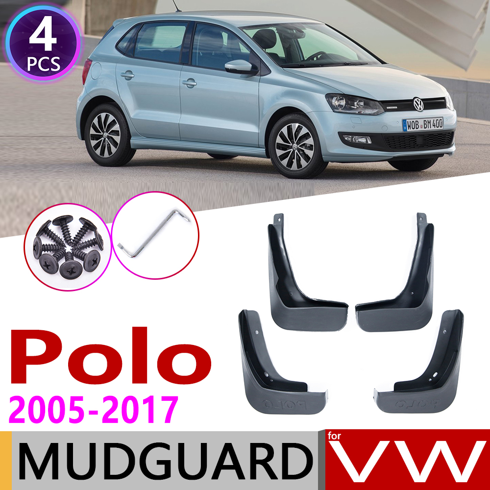 for Volkswagen VW Polo Mk4 MK5 9N3 6C 6R 2005 2017 Fender Mud Guard Flaps Splash Flap Mudguards Accessories 2006 2010 2015 2016