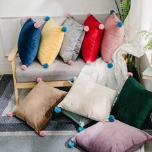 1Pc Soft Velvet Cushion Comfortable Throw Pillow for Bed, Decorative Case Couch Sofa,  45x45cm