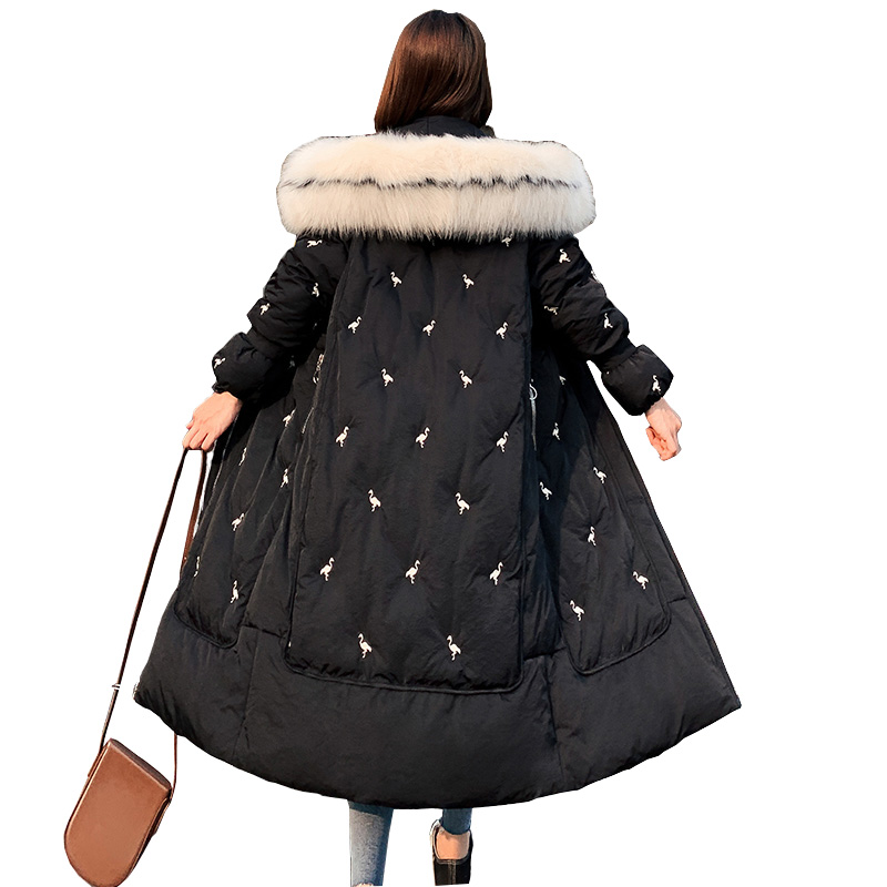 2019 New Winter Collection Brand Fashion Thick Women Winter Long  Jackets Hooded Women Parkas Coats Plus Size