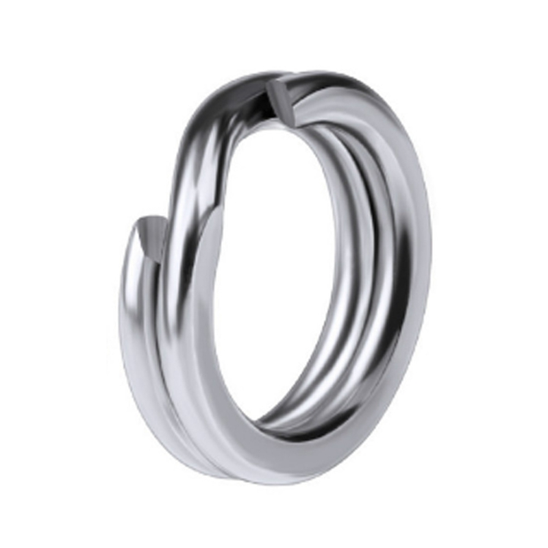 25pcs 5# 6# 7# 8# Stainless Steel Split Ring Strengthen Solid Ring Lure Connecting Ring Fishing Accessories