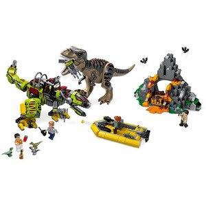 Image 3 - New Jurassic Park World Dinosaur Dinosaurs Spinosaurus Assault Figure Building Block  With 73934 75935 75937 75938