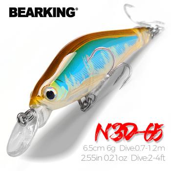 BearKing 6 5cm 6g detaliczny sprzęt wędkarski Hot A + przynęty shad 5 kolor do wyboru profesjonalna jakość minnow pudło pcv tanie i dobre opinie Morze łodzi rybackich Ocean Rock Fshing Ocean beach fishing LAKE Zbiornik staw Rzeka Stream CN (pochodzenie) LURE N3D-65