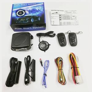 Image 5 - Автомобильный PKE бесключевая система входа одна кнопка пуска стоп система сигнализации с пультом дистанционного управления для 12v автомобиля бесключевая кнопка пуска аксессуары